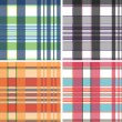 Fabric plaid check pattern — Stock Vector
