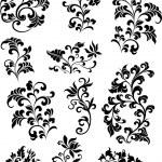Swirl corner pattern design — Stock Vector