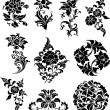 Swirl corner pattern design - Image vectorielle