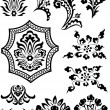 Swirl corner pattern design - Vettoriali Stock 