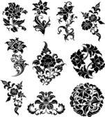 Diseño del patrón esquina del remolino — Vector de stock