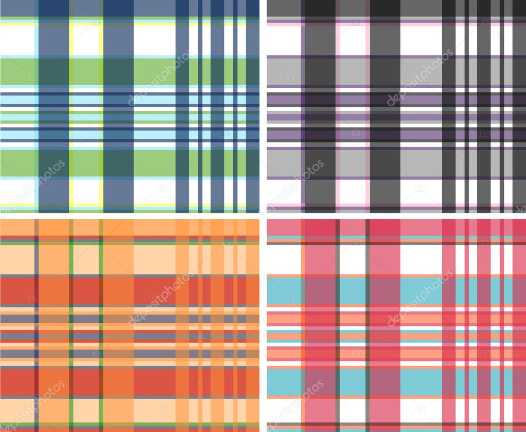 Fabric plaid check pattern — Stock Vector #10154799