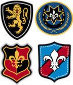 Heraldiska klassiska emblem — Stockvektor
