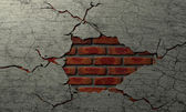 Cracked Brick And Plaster Wall — Stock Photo