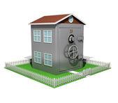 Suburban Safe House — Stock Photo