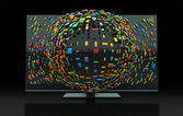 3DTV Television Concept — Stock Photo