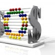 SOS Debt Abacus — Stock Photo