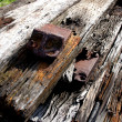Abandoned Wooden Railway Sleepers — Stock Photo #9719082