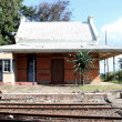 Stock Photo: Old Abandoned Railway Station