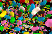 Jelly Beans Falling — Stock Photo