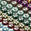Casino Chip Stacked In Pattern of Quantity Order — Stock Photo