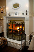 Cabinet fireplace — Stock Photo