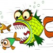 Stock Vector: Angry fish