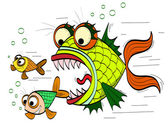 Angry fish — Stock Vector