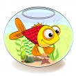 Royalty-Free Stock Vector Image: Fish in aquarium
