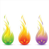 Lights the flame — Stock Vector