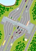 Highway Toll — Stock Vector