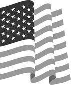 Waving U.S. Flag — Stock Vector