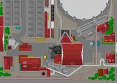 Heavy industry — Stock Vector
