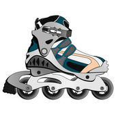 Inline Skate Boot — Stock Vector