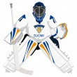 Stock Vector: Team Finland hockey goalie