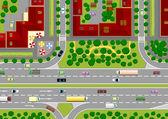 Highway in the city — Stock Vector