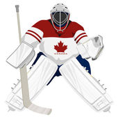Team Canada hockey goalie — Stock Vector