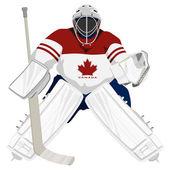 Team Canada hockey goalie — Stock Vector