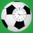 Stock Vector: Clock in football ball