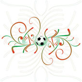 Abstract football background — Stock Vector