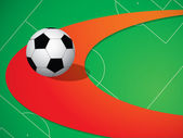 Background with soccer ball — Vector de stock