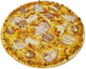 Salami pizza with ham — Stock Photo