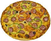 Salami pizza — Stock Photo