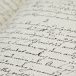 Foto Stock: Old hand writing