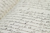 Old hand writing — Photo