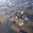 Group of skydivers in formation — Stock Photo #9214728