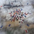 Group of skydivers in formation — Stock Photo #9214732