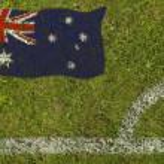 Football Flag — Stock Photo