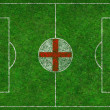Royalty-Free Stock Photo: Football Pitch with English Flag