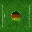 Royalty-Free Stock Photo: Football Pitch with German Flag