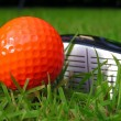 Orange Golf Ball — Stock Photo #9253452