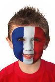 Football Face Paint - France — Stock Photo