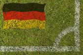 Bandera de fútbol — Foto de Stock