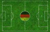 Football Pitch with German Flag — Stock Photo