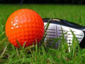 Orange Golf Ball — Stock Photo
