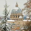 Saint peter basilica under snow — Stock Photo #9389711