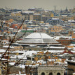 Pantheon dome under the snow at  rome in italy — Stock Photo