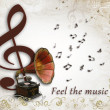 Feel the music — Stock Photo
