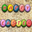 Inscription of the Easter eggs - Stock Photo