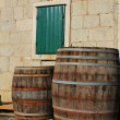 Stock Photo: Old wood barrels